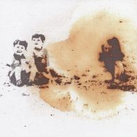 Reparation - Screenprint/Flocked Iron Filings, Rusted & Stitched