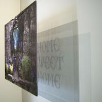 Home Sweet Home (Infant Grave) - Digital Print on Fabric with Stitch