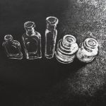 Little Empty Bottles - Etching - Edition of 12