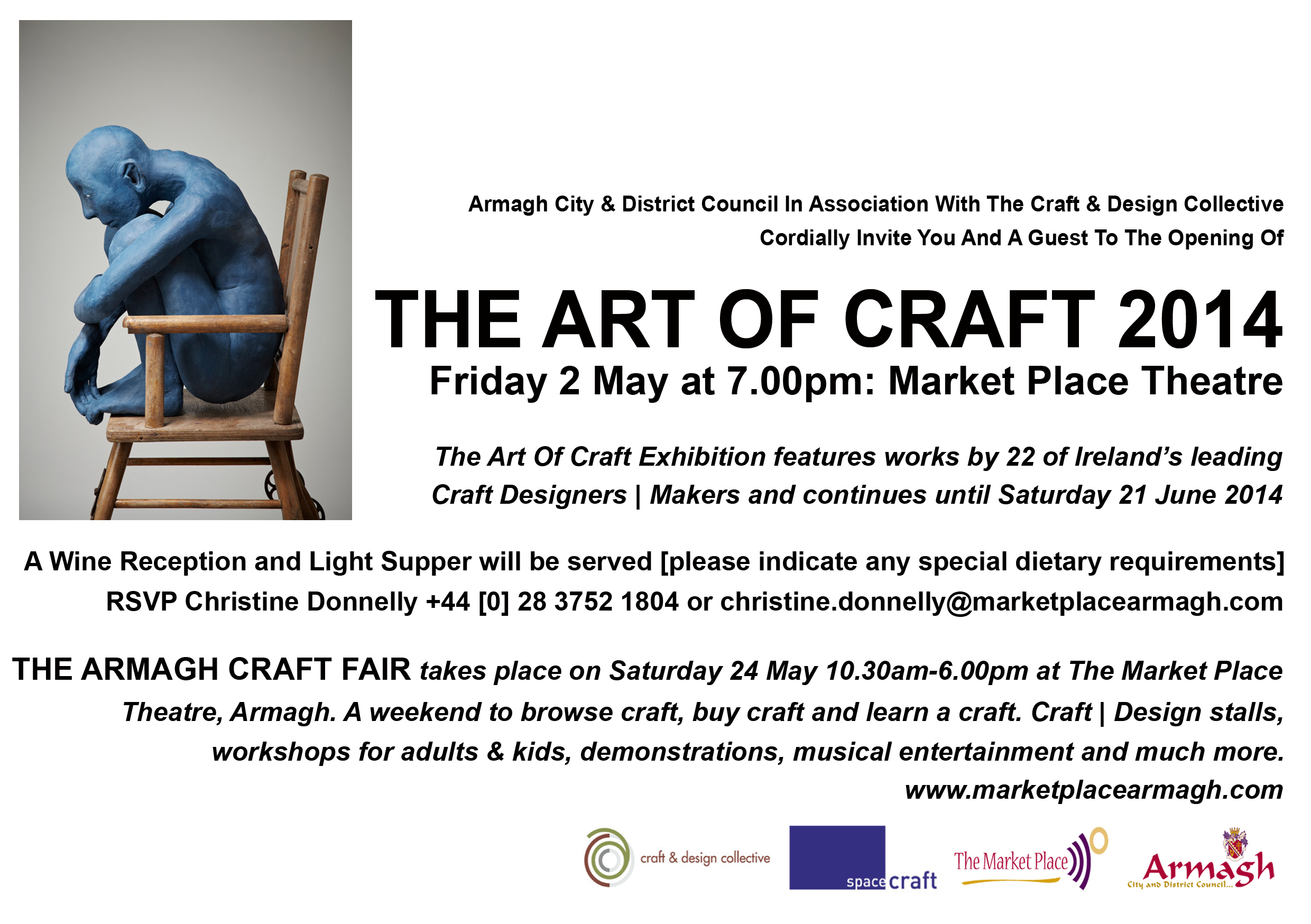 The art of craft exhibition market place theatre armagh maeve art of craft exhibition invitation 2014 stopboris Choice Image